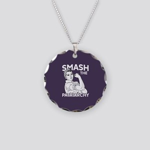 Rosie the Riveter - Smash th Necklace Circle Charm