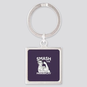 Rosie the Riveter - Smash the Patr Square Keychain