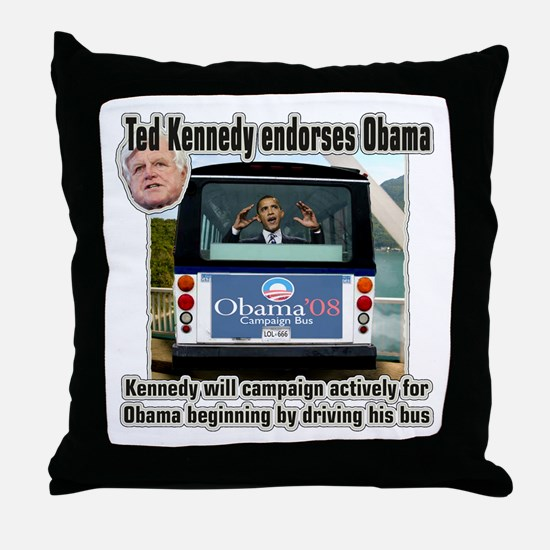 "Ted ""swimmer"" Kennedy is endorsing Obama  Throw Pi"