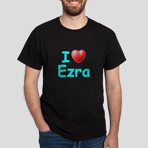 I Love Ezra (Lt Blue) Dark T-Shirt