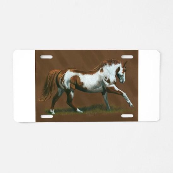 Beautiful Paint Horse Aluminum License Plate