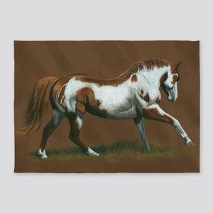Beautiful Paint Horse 5'x7'Area Rug