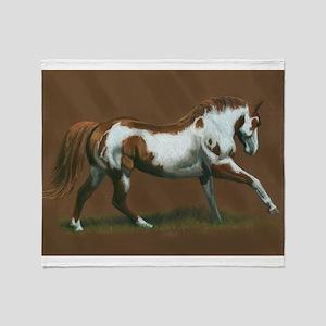 Beautiful Paint Horse Throw Blanket
