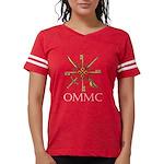Ommc Badge White Lettering Red Shirt T-Shirt