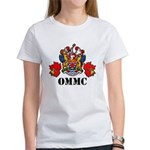 Ommc Coat Of Arms With Maple Leafs White T-Shirt