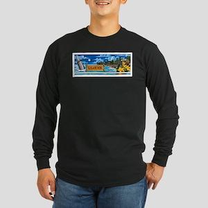 Lahaina, Maui Long Sleeve Dark T-Shirt