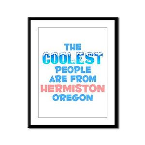 Coolest: Hermiston, OR Framed Panel Print