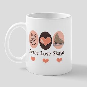 Peace Love Skate Ice Skating Mug