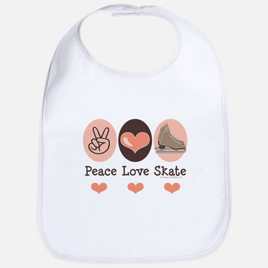 Peace Love Skate Ice Skating Bib