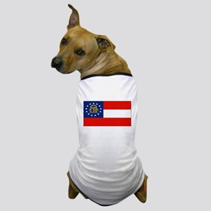 Georgia Georgian Blank Flag Dog T-Shirt