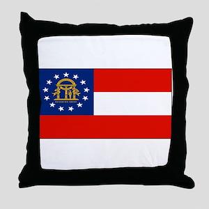 Georgia Georgian Blank Flag Throw Pillow
