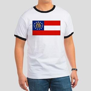 Georgia Georgian Blank Flag Ringer T