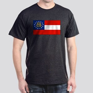 Georgia Georgian Blank Flag Dark T-Shirt