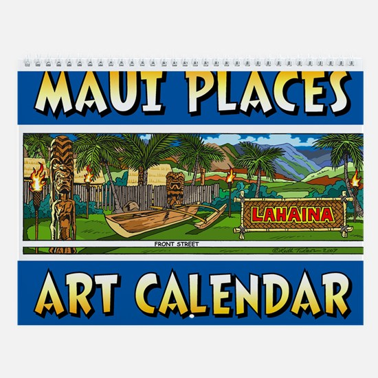 Maui Places Wall Art Calendar