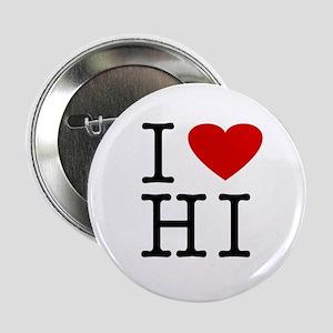 I Love Hawaii (HI) Button