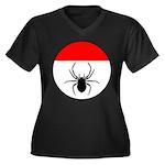 Webminister Women's Plus Size V-Neck Dark T-Shirt