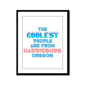 Coolest: Harrisburg, OR Framed Panel Print