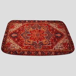 Antique Persian Rug Red Carpet Bathmat