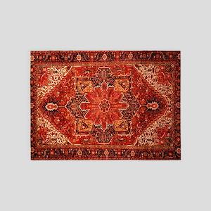 Antique Persian Rug Red Carpet 5'x7'Area Rug