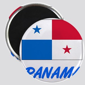 Panama Flag Artistic Blue Design Magnets
