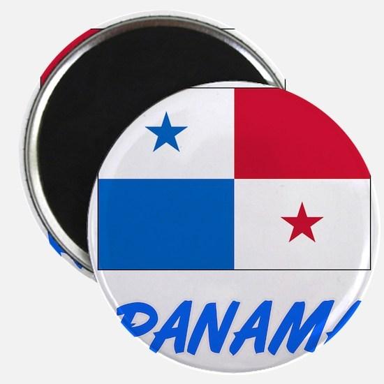 Panama Flag Artistic Blue Design Magnets