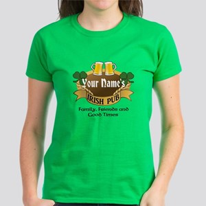 Custom Personalized Name Irish Pub T-Shirt