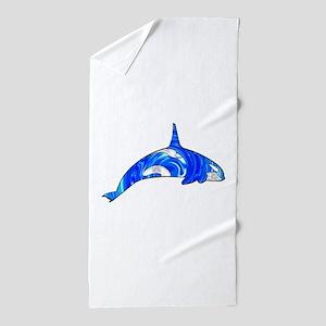 THE CARIBBEAN ORCA Beach Towel