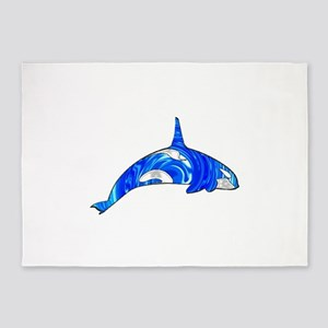 THE CARIBBEAN ORCA 5'x7'Area Rug