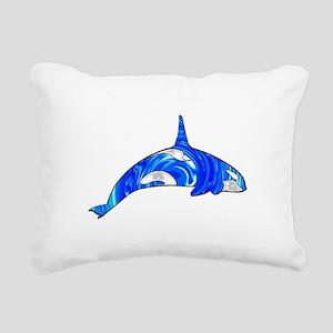 THE CARIBBEAN ORCA Rectangular Canvas Pillow