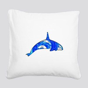 THE CARIBBEAN ORCA Square Canvas Pillow