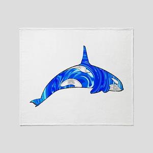 THE CARIBBEAN ORCA Throw Blanket