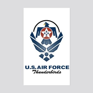 USAF Thunderbirds Diamond Rectangle Sticker