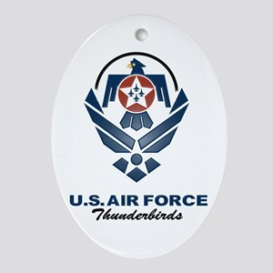 USAF Thunderbirds Diamond Oval Ornament