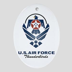USAF Thunderbirds Diamond Oval Ornament