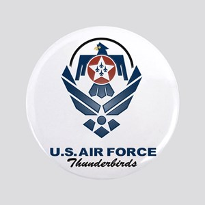 "USAF Thunderbirds Diamond 3.5"" Button"