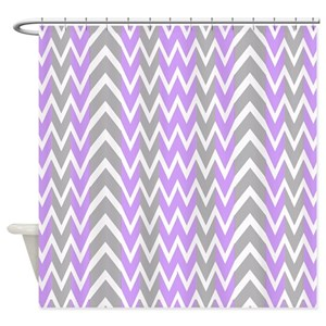 White And Lavender Shower Curtains