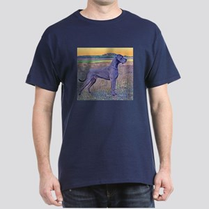 Great Dane Blue Art Scene Dark T-Shirt
