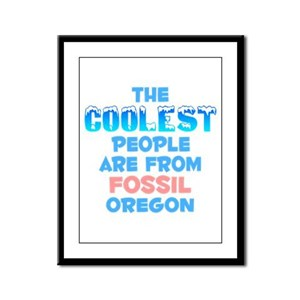 Coolest: Fossil, OR Framed Panel Print