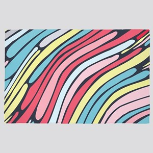 Colorful Abstract 4' x 6' Rug