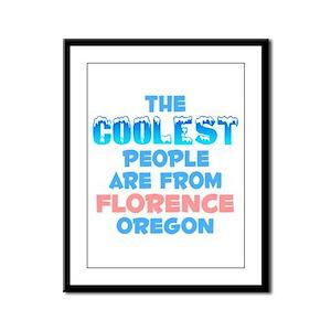 Coolest: Florence, OR Framed Panel Print