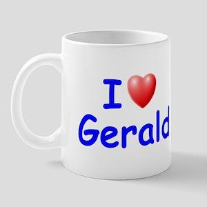 I Love Gerald (Blue) Mug
