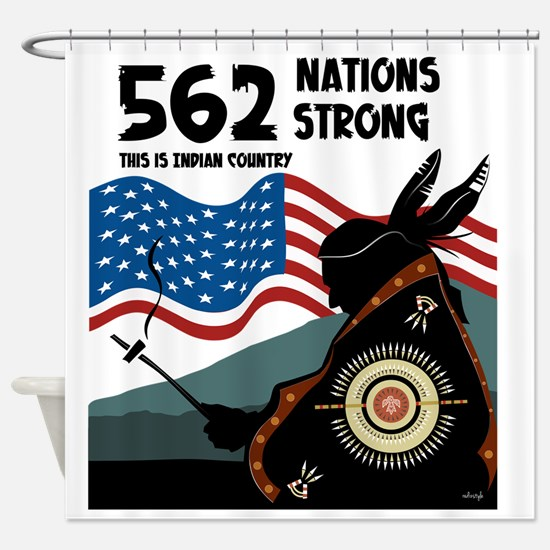 562 NATIONS - INDIAN COUNTRY Shower Curtain