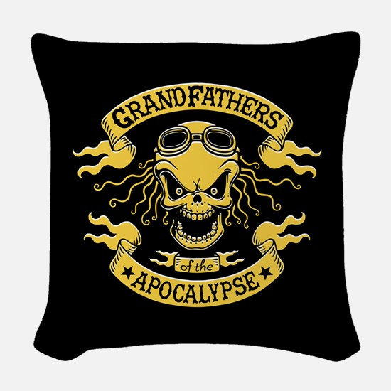Gramps of the Apocalypse Woven Throw Pillow