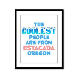 Coolest: Estacada, OR Framed Panel Print