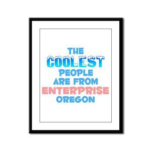 Coolest: Enterprise, OR Framed Panel Print