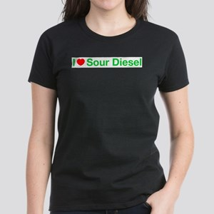 I Heart Sour Diesel Women's Pink T-Shirt