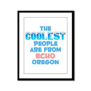 Coolest: Echo, OR Framed Panel Print