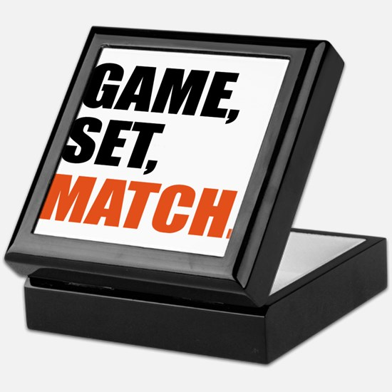 game,set,match Keepsake Box