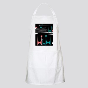 Mid-Century Modern Cats Light Apron