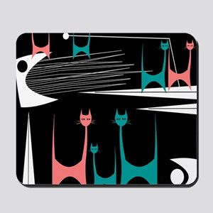 Mid-Century Modern Cats Mousepad